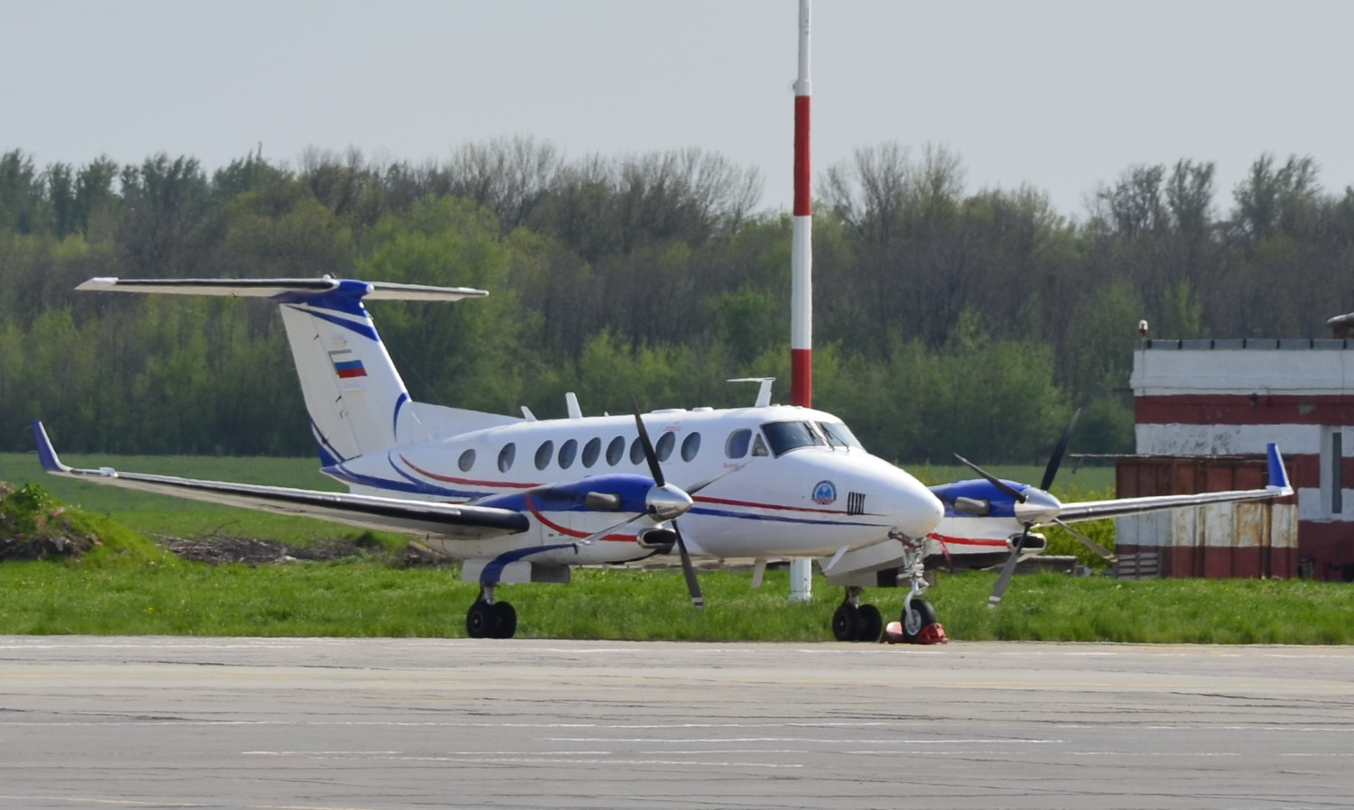 Beechcraft King Air 350i в ростовском аэропорту